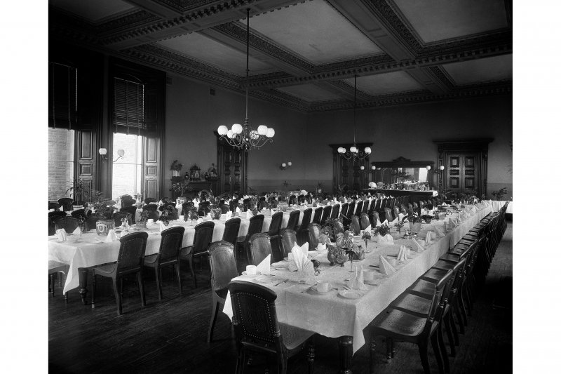 View of the dining room, Peebles Hydropathic Hotel.