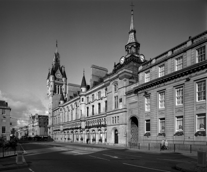 Aberdeen, Castle Street, Municipal Buildings. General view from the South-East.