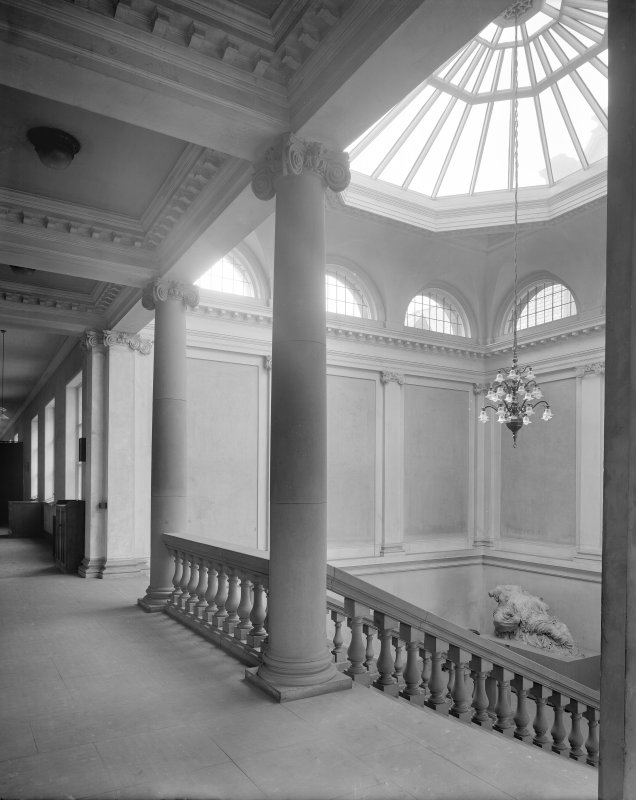 Interior-general view of stairwell in Edinburgh College of Art