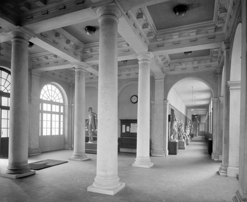 Interior-general view of entrance hallway in College of Art
