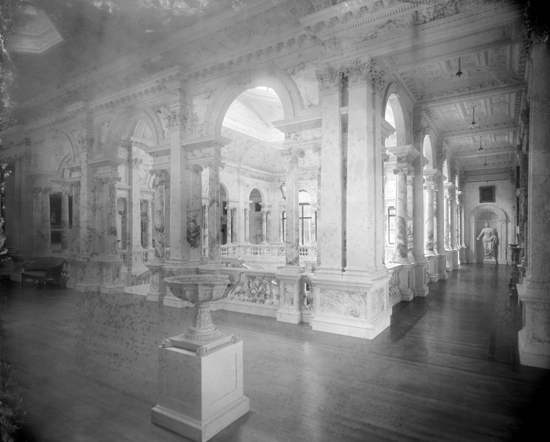 Interior-general view of upper gallery above Marble Hall