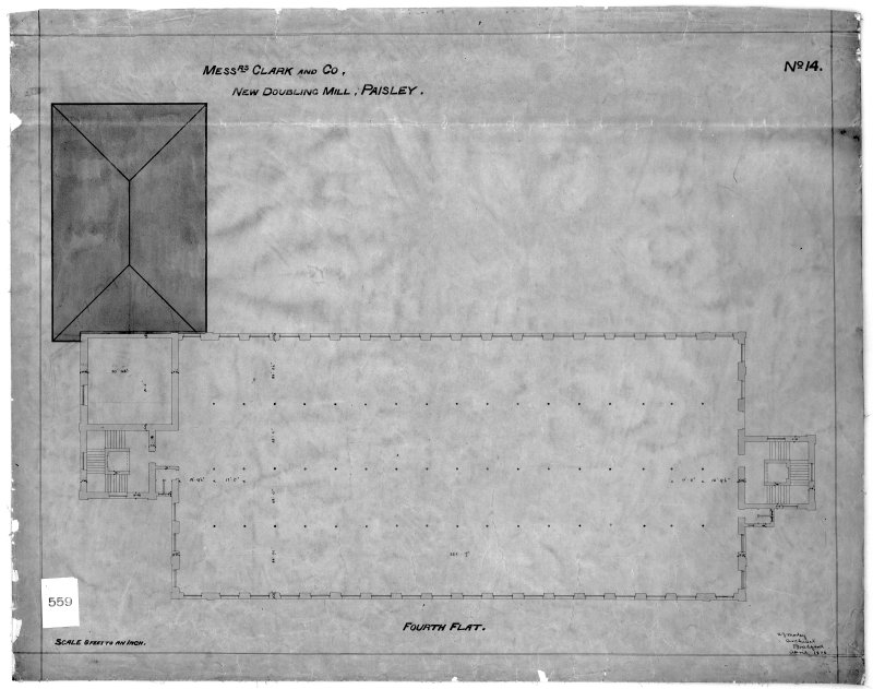 Photographic copy of drawing showing fourth flat plan. Digital image of B 78230