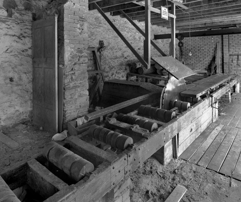 Interior, view from WSW (including saw-mill machinery)