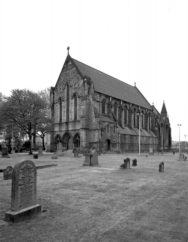 Glasgow, 866 Govan Road, Govan Old Parish Church General view of church and burial ground from South East.