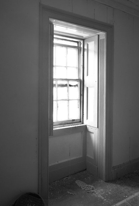 Interior detail of window in lightkeepers' houses, photographed 28 July 1993