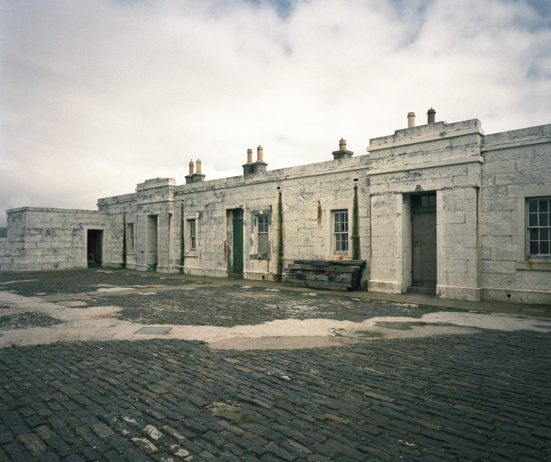 View from SW across courtyard of lightkeepers' houses, photographed 28 July 1993