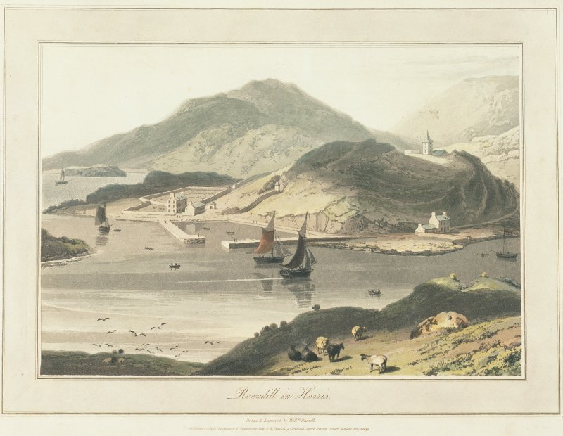 Photographic copy of engraving of Rodel Harbour. Digital image of C 33455 CN