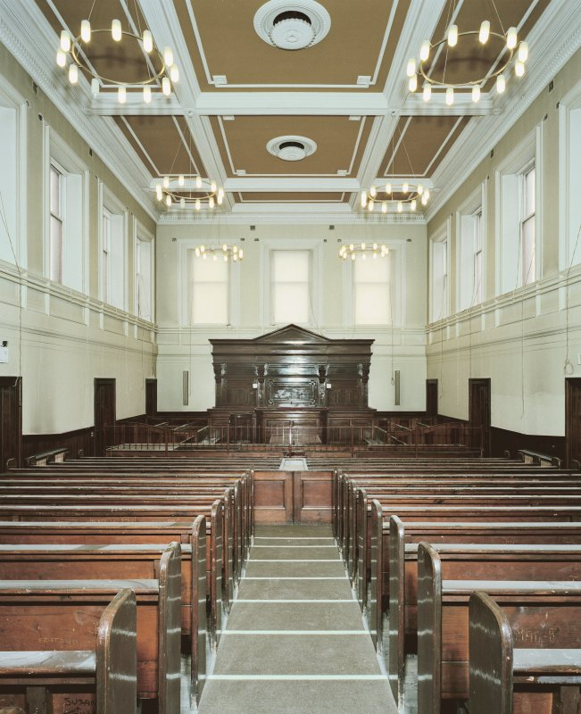Interior. View of main Sheriff Court room from E. Digital image of C 44253 CN