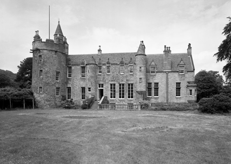 Craigcrook Castle. View of South elevation.