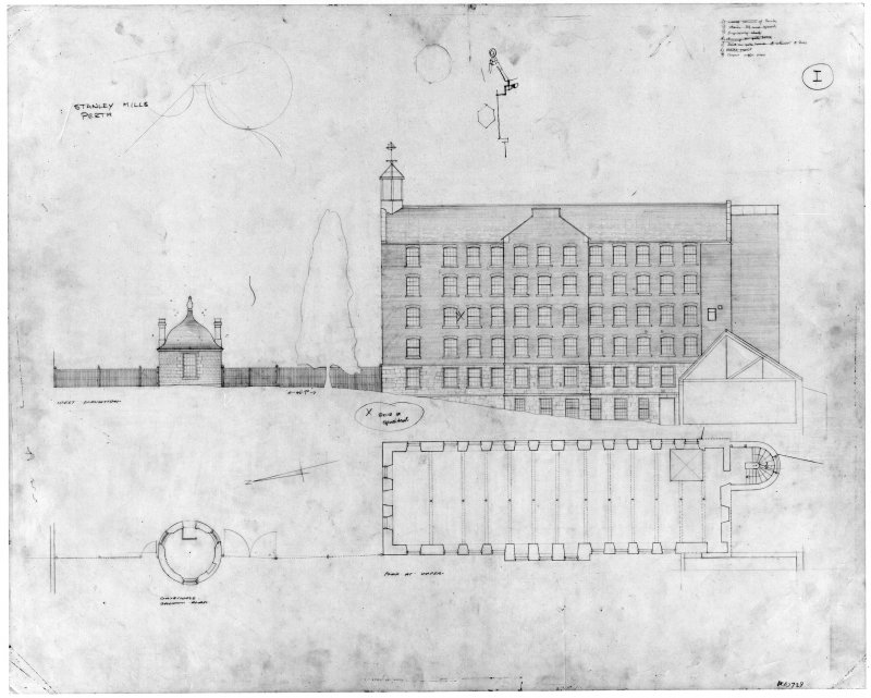 Photographic copy of drawing showing plan & elevation.