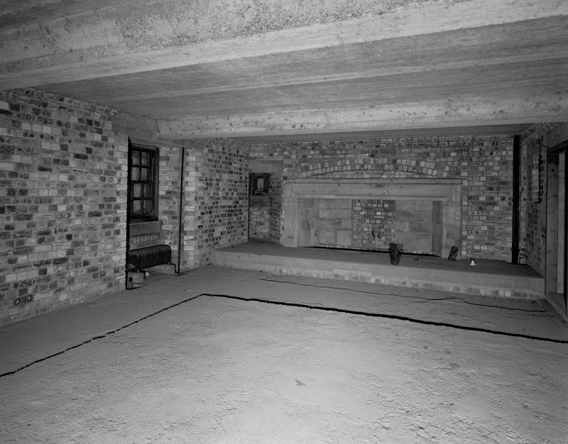Interior. Detail of fireplace. Digital image of C 38788