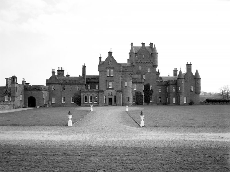 View of Ayton Castle, Berwickshire, from North West