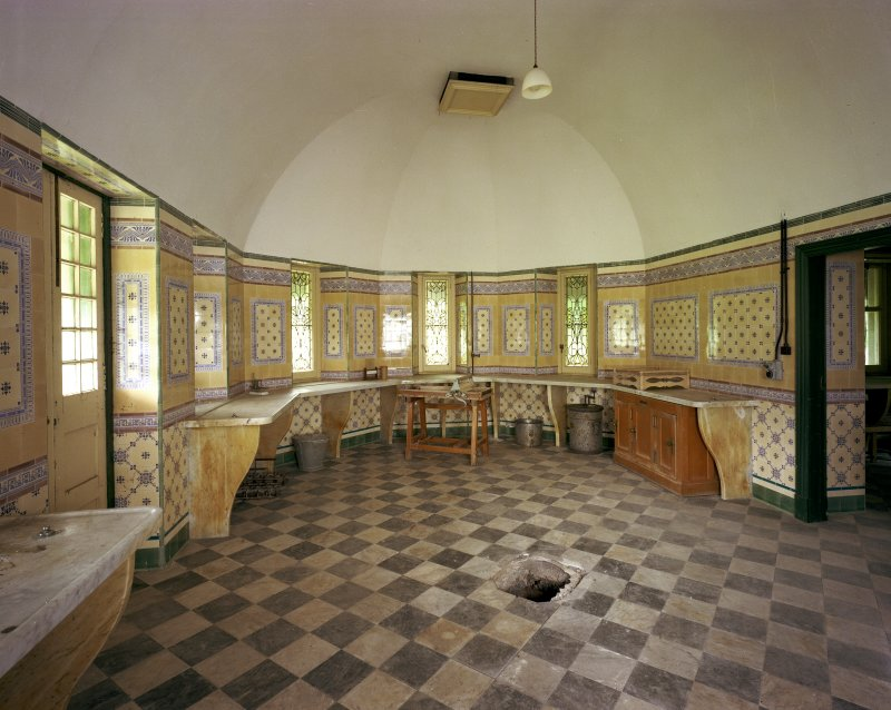 Interior view of Dairy Room from S, Skibo Castle
