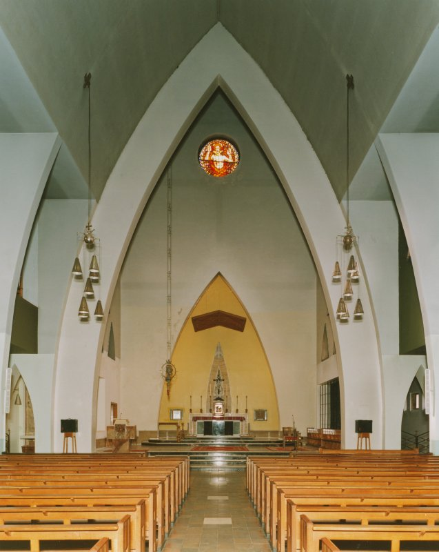 Interior - View of altar at West end, from East