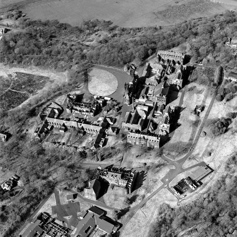 Digital image of E8187, oblique aerial view of Gartloch Hospital, taken from the SSW.