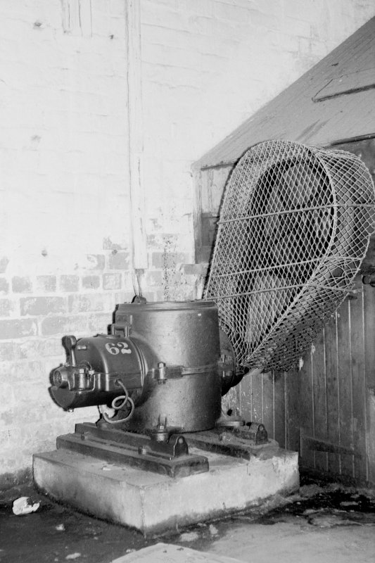 Interior View showing electric motor, Ediswan type