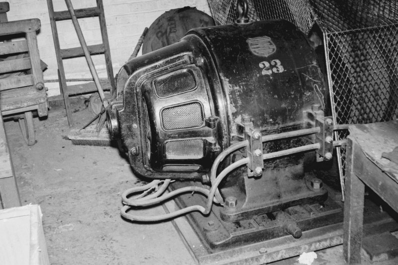 Interior View of electric motor showing Lancashire Dynamo