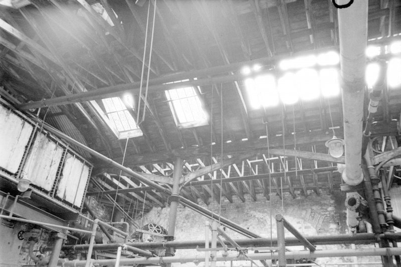 Interior View showing roof structure of dyehouse