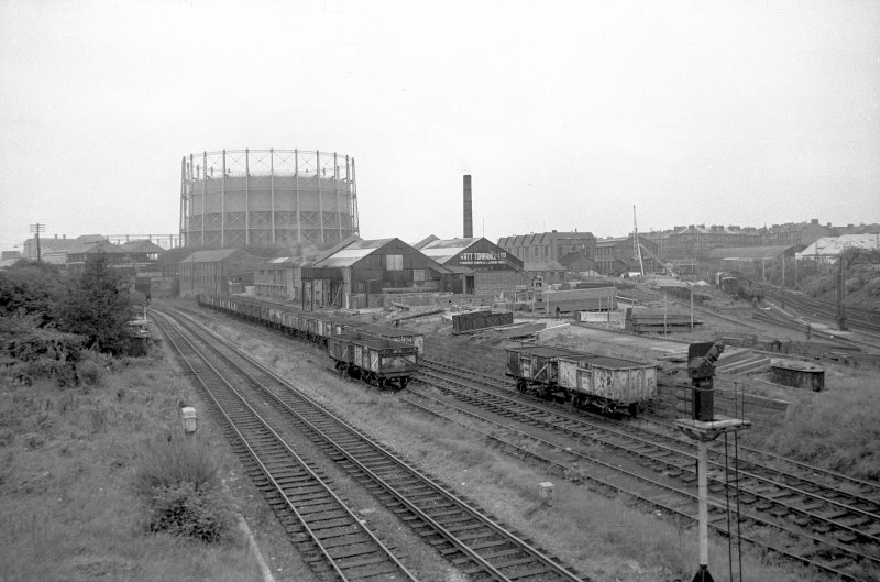 General view from SW showing sawmills with gasholder in background