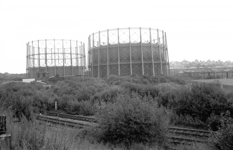 General view from W showing gasholders
