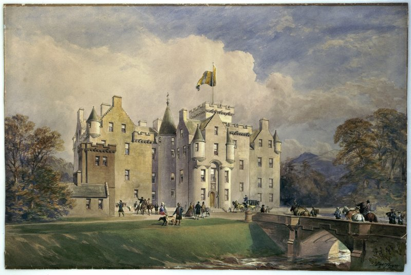 Blair Castle. Photographic copy of perspective view of entrance front.