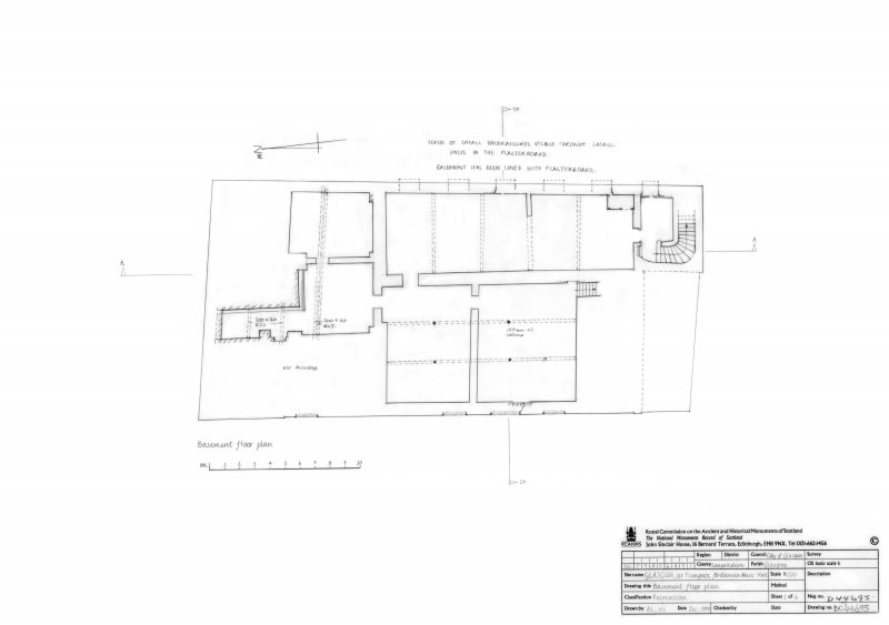 Photographic copy of basement plan