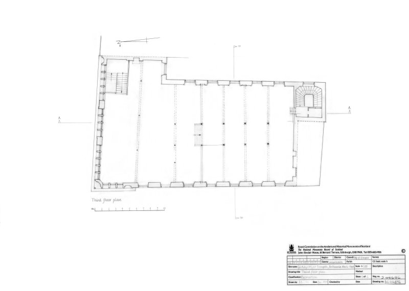 Photographic copy of 3rd floor plan