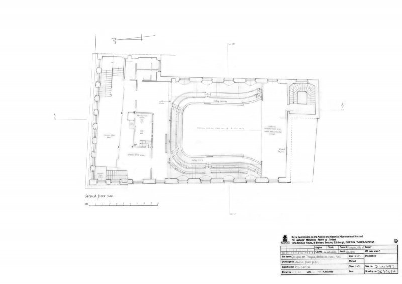 Photographic copy of 2nd floor plan