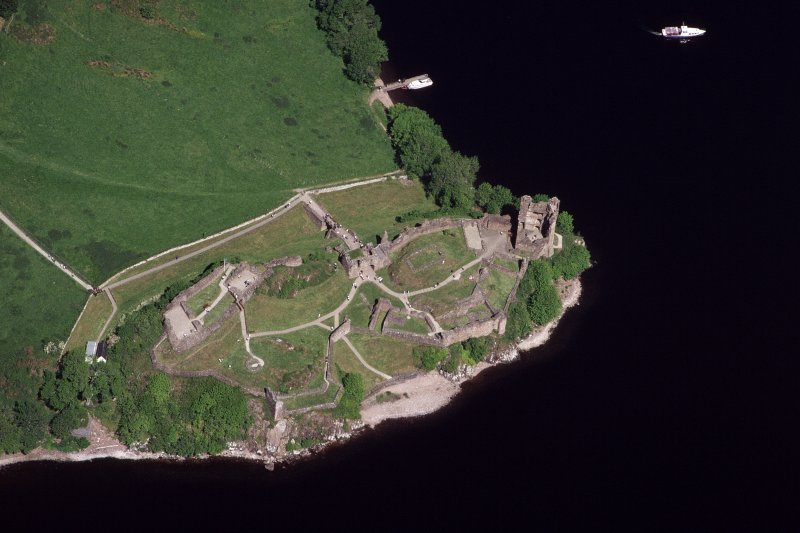 Urquhart Castle, oblique aerial view, taken from the SE.