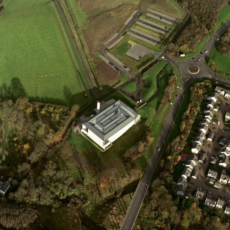 Aerial view of the new Museum of Scottish Country Life. Digital image of D 50027 CN.