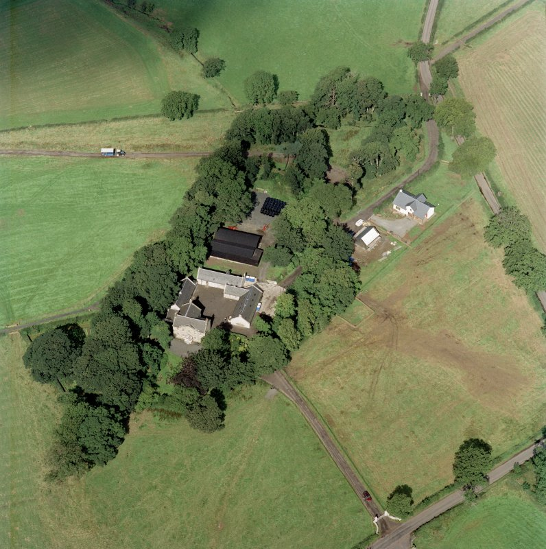 Aerial view of Wester Kittlochside farm.