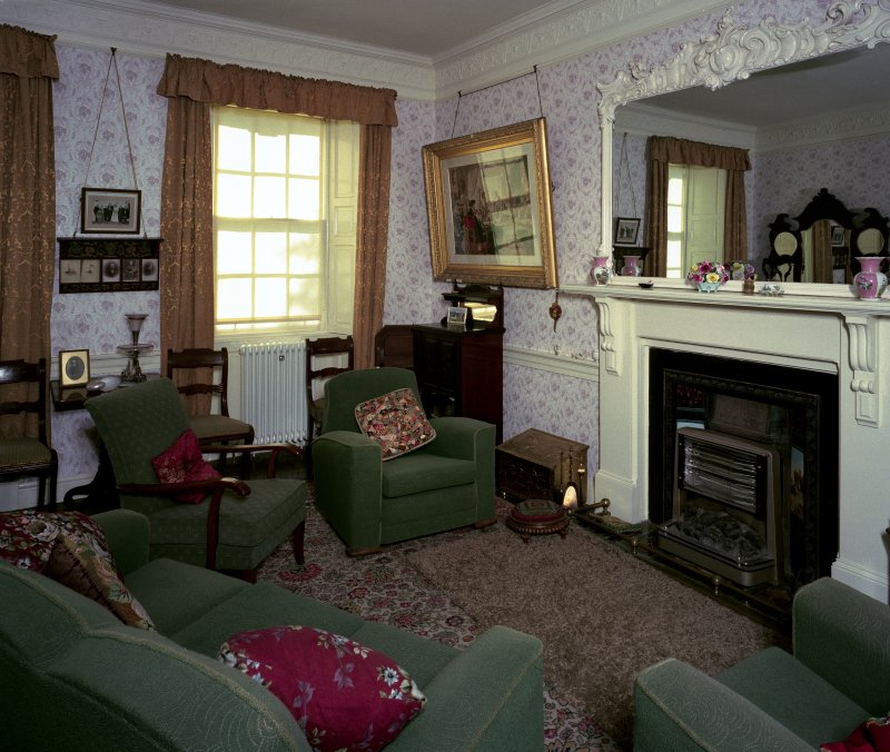 View of first floor sitting room from N.