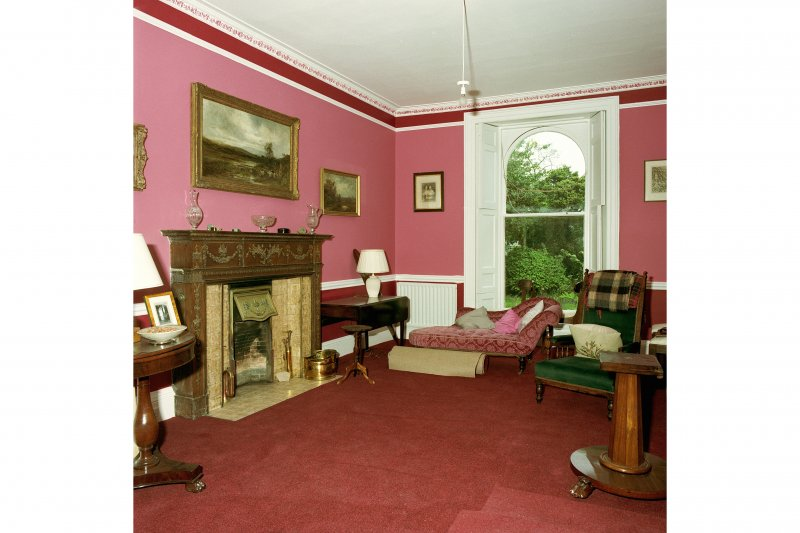Edinburgh, 22 York Road, Grange House, interior. View of dining room from East.