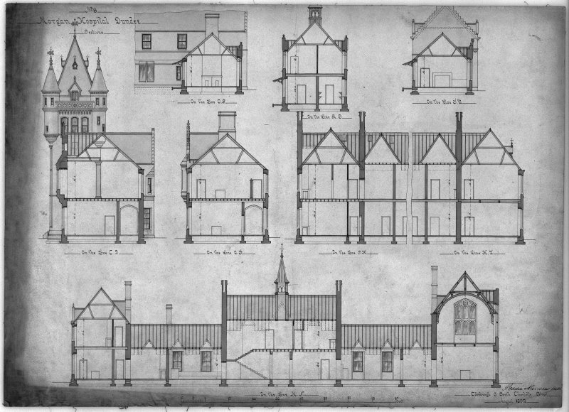 Plans, sections and elevations. Scanned image of D 39793.