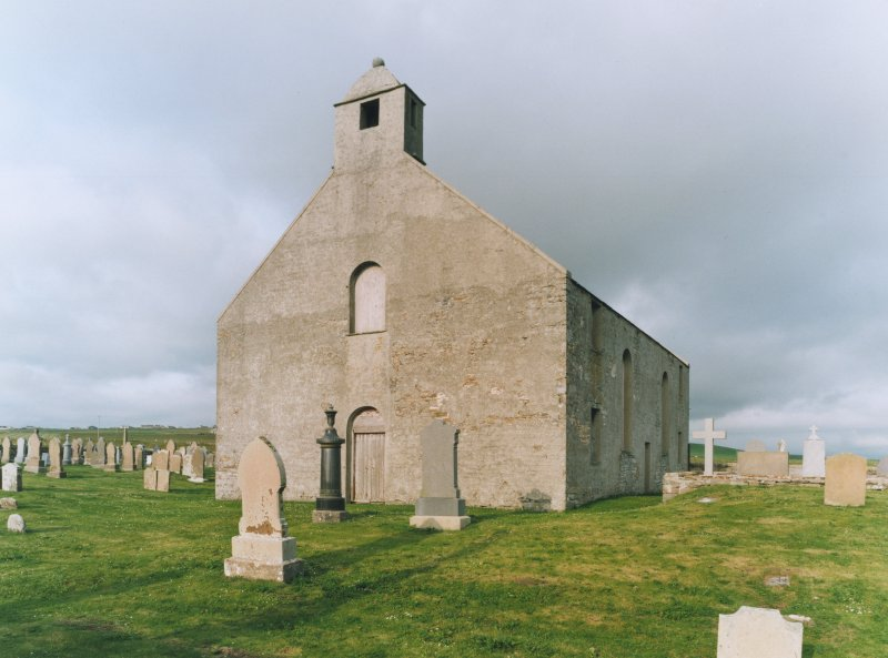 View of St Peter's Kirk, Sandwick, from south west