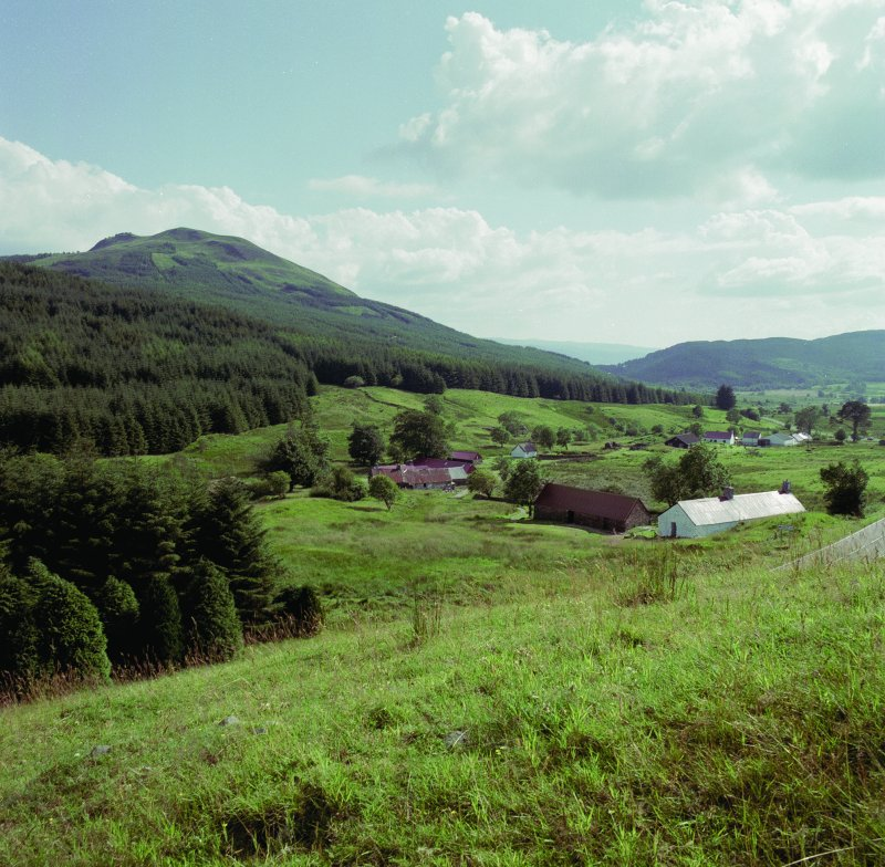 Auchindrain. General view of eastern part of township from North East. Digital image of B 19335 CN.
