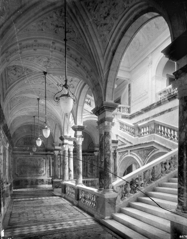 Interior-general view of marble staircase Digital image of B 64019