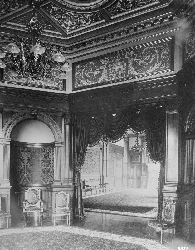 Interior-general view of meeting rooms showing painted panelling Digital image of B 64059