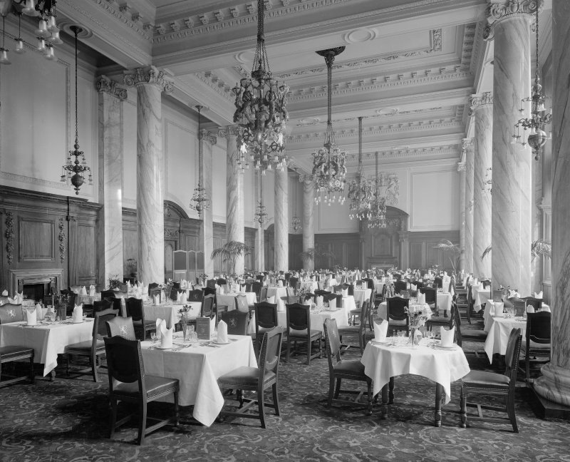 General view of Dining Room, Central Hotel, Central Station in Glasgow