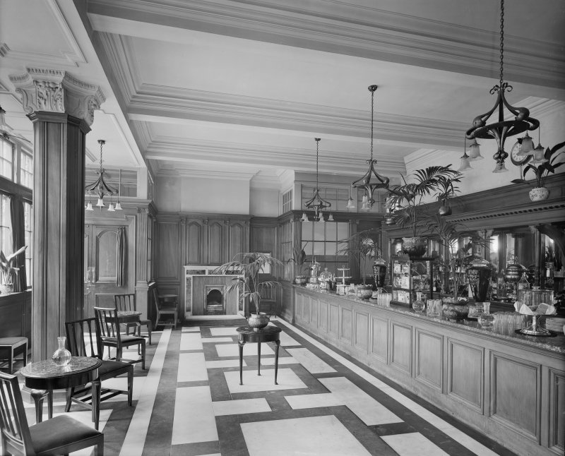 General view of coffee lounge area, Central Station Hotel, Glasgow