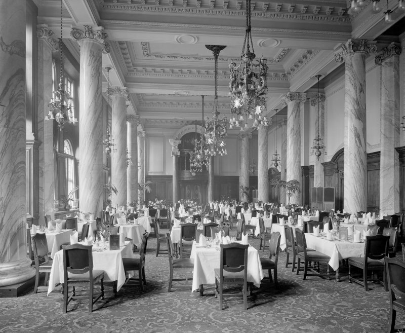 View of dining room, Central Hotel, Glasgow