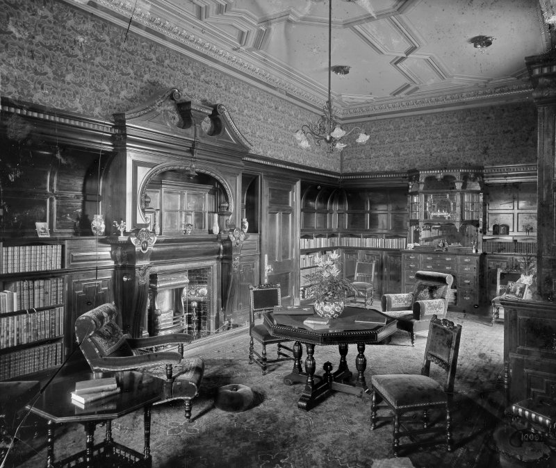 Interior-general view of Library  Plate broken