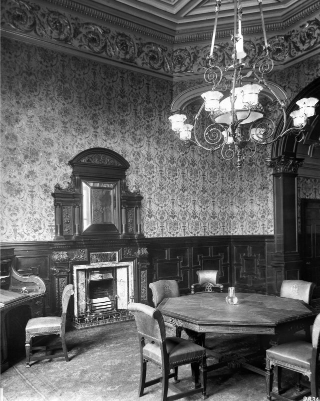 Interior-general view of Reception room with table and chairs