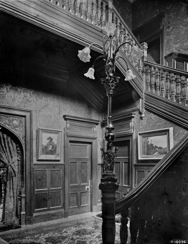 Interior-general view of entrance hallway and staircase