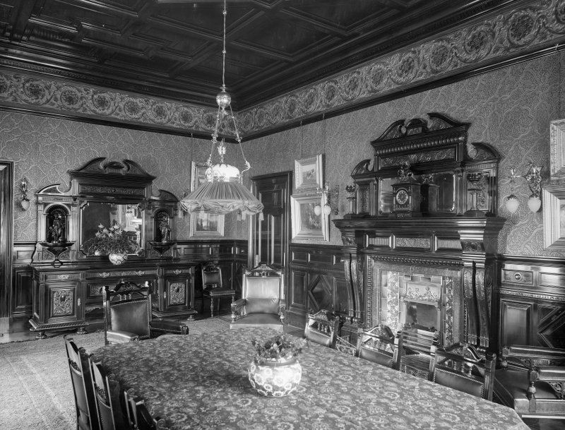 Interior-general view of Dining Room showing two fireplaces