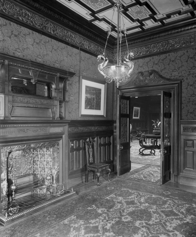 Interior-general view of fireplace and doorway in Sitting Room (?)