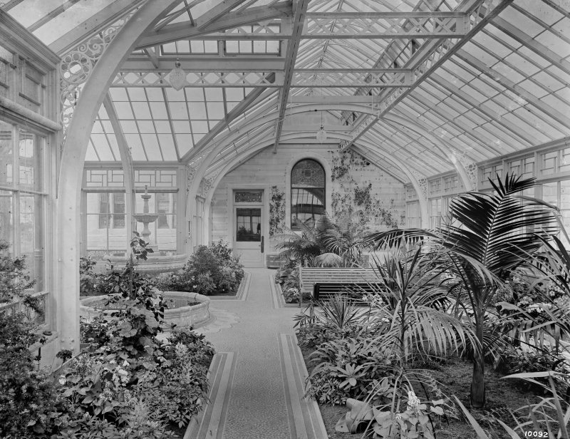 View of conservatory, Seafield House, Ayr.