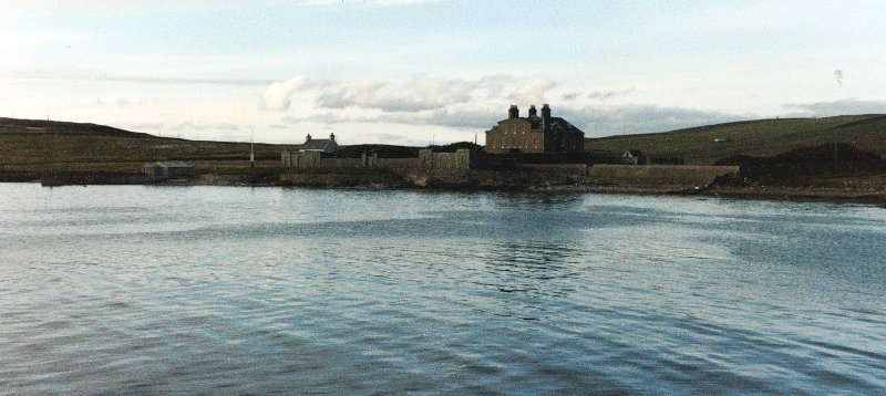 Gardie House, Bressay, view from SE. Digital image of B/87613/PO.