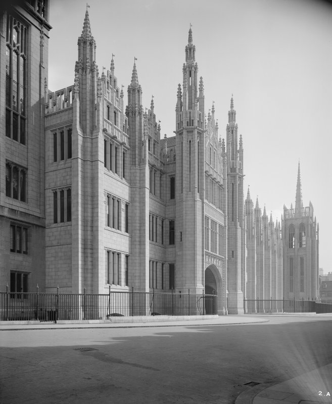 General view of entrance front of Marischal College.