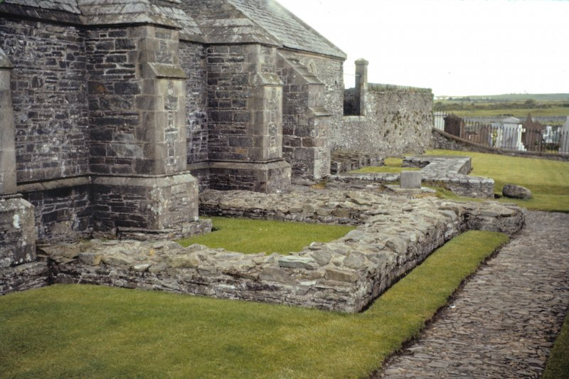 Colour slide showing view of early church at east end of crypt, Whithorn Priory NMRS Survey of Private Collection Digital Image only